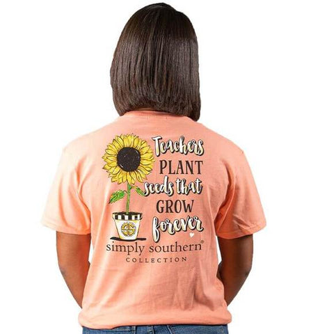 Simply Southern Teacher Peachy Shirt