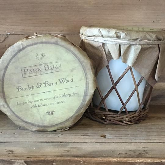 "Park Hill Soy Candle ""Burlap and Barn Wood"""