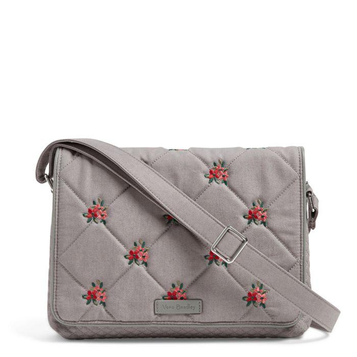 Vera Bradley: Iconic Turnabout Crossbody-Denim Gray