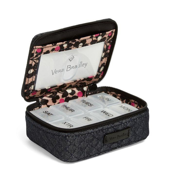 Vera Bradley:Iconic Travel Pill Case-Denim Navy