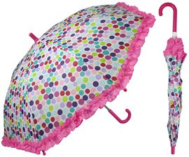 Rainstoppers Umbrella Bright Dots with Ruffle