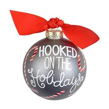 Coton Colors Hooked on the Holidays Glass Ornament