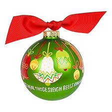 Coton Colors Just Hear Those Sleigh Bells Glass Ornament