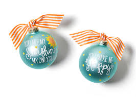 Coton Colors You Are My Sunshine Glass Ornament