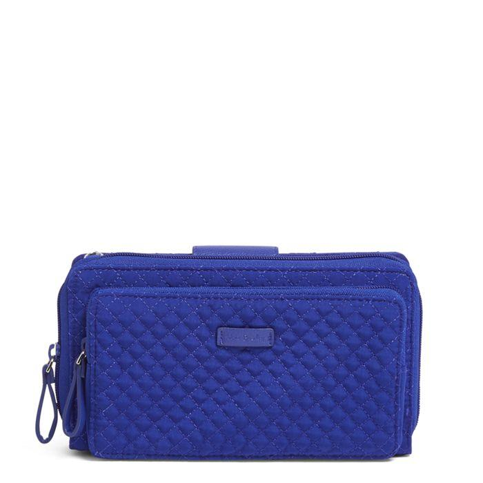 Vera Bradley:Iconic Deluxe All Together Crossbody-Gage Blue