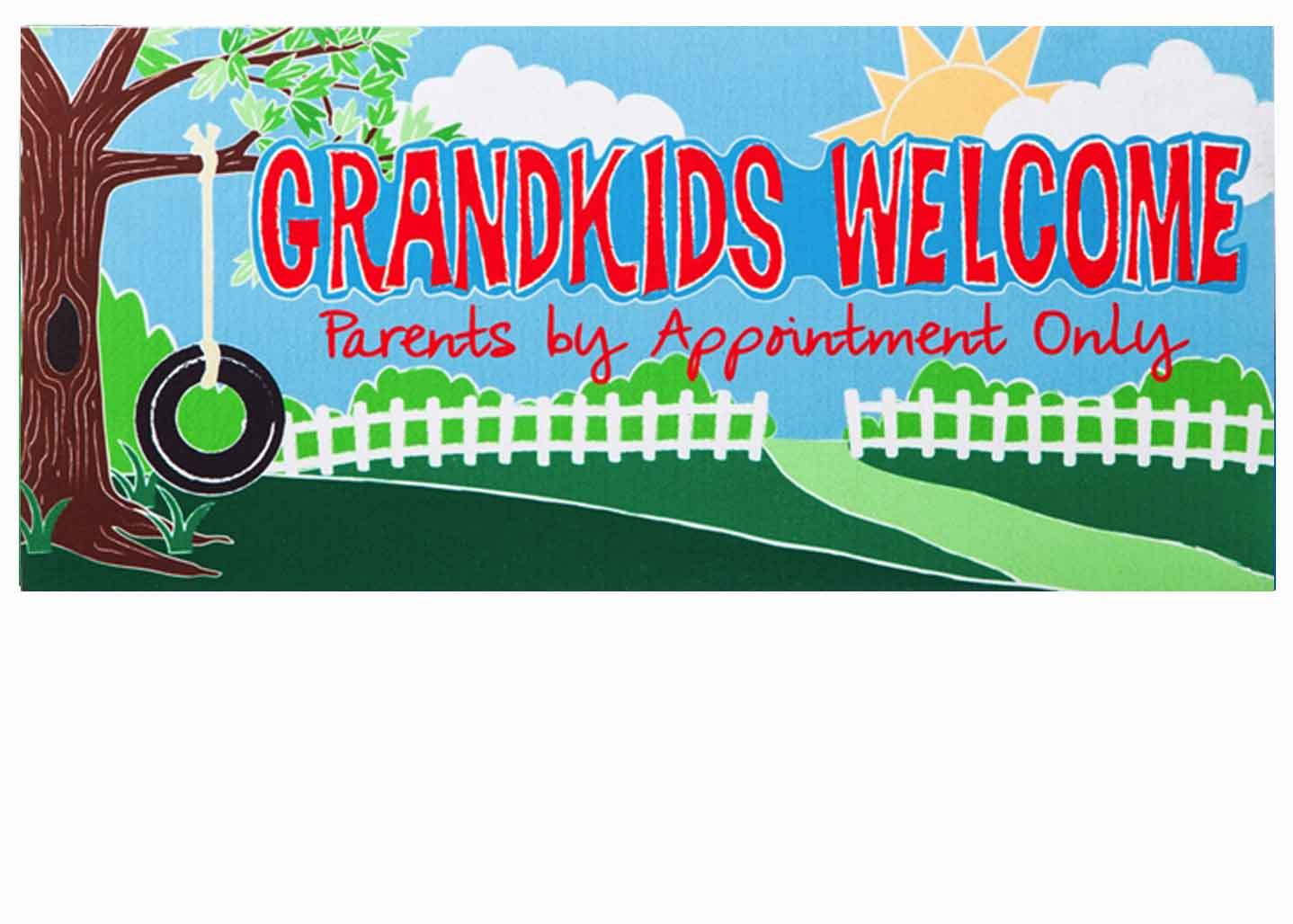 Sassafras Grand-kids Welcome Switch Mat