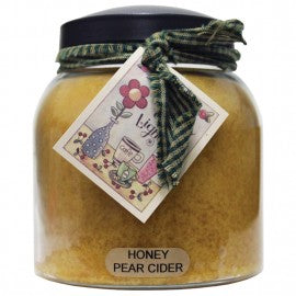 Keepers of the Light Candle- Honey Pear Cider 34 oz. Papa Jar
