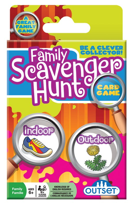 Family Scavenger Hunt Card Game