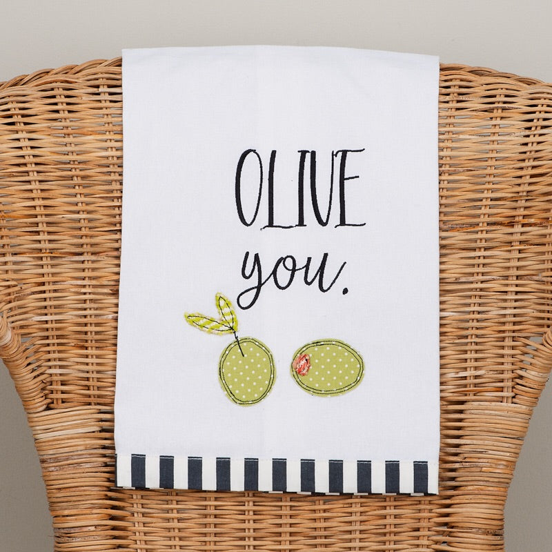 Daughters of Hope India:Olive You Tea Towel