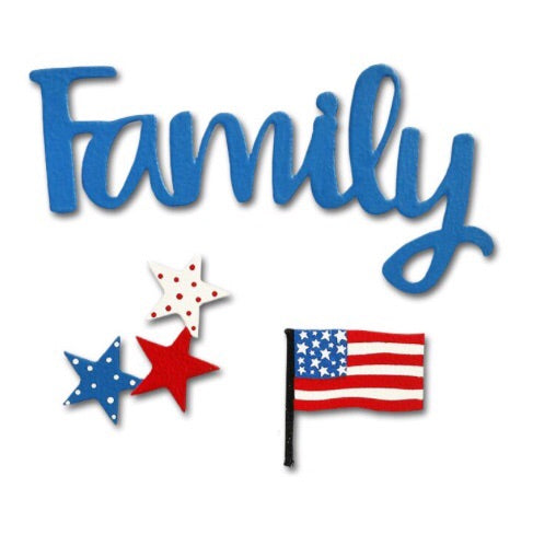"""Family"" w/ patriotic magnets"
