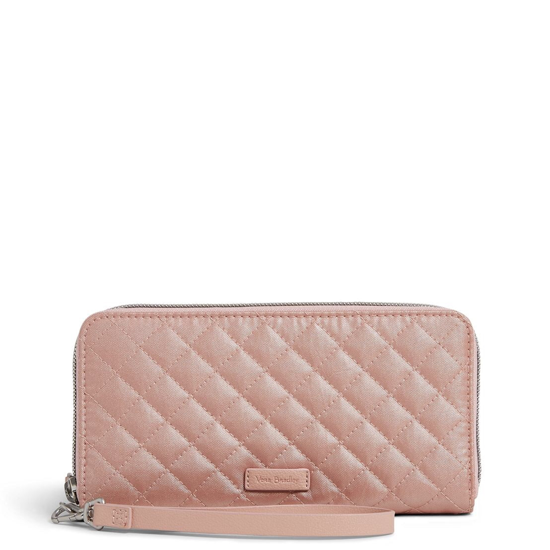 Iconic RFID Accordion Wristlet - Rose Quartz