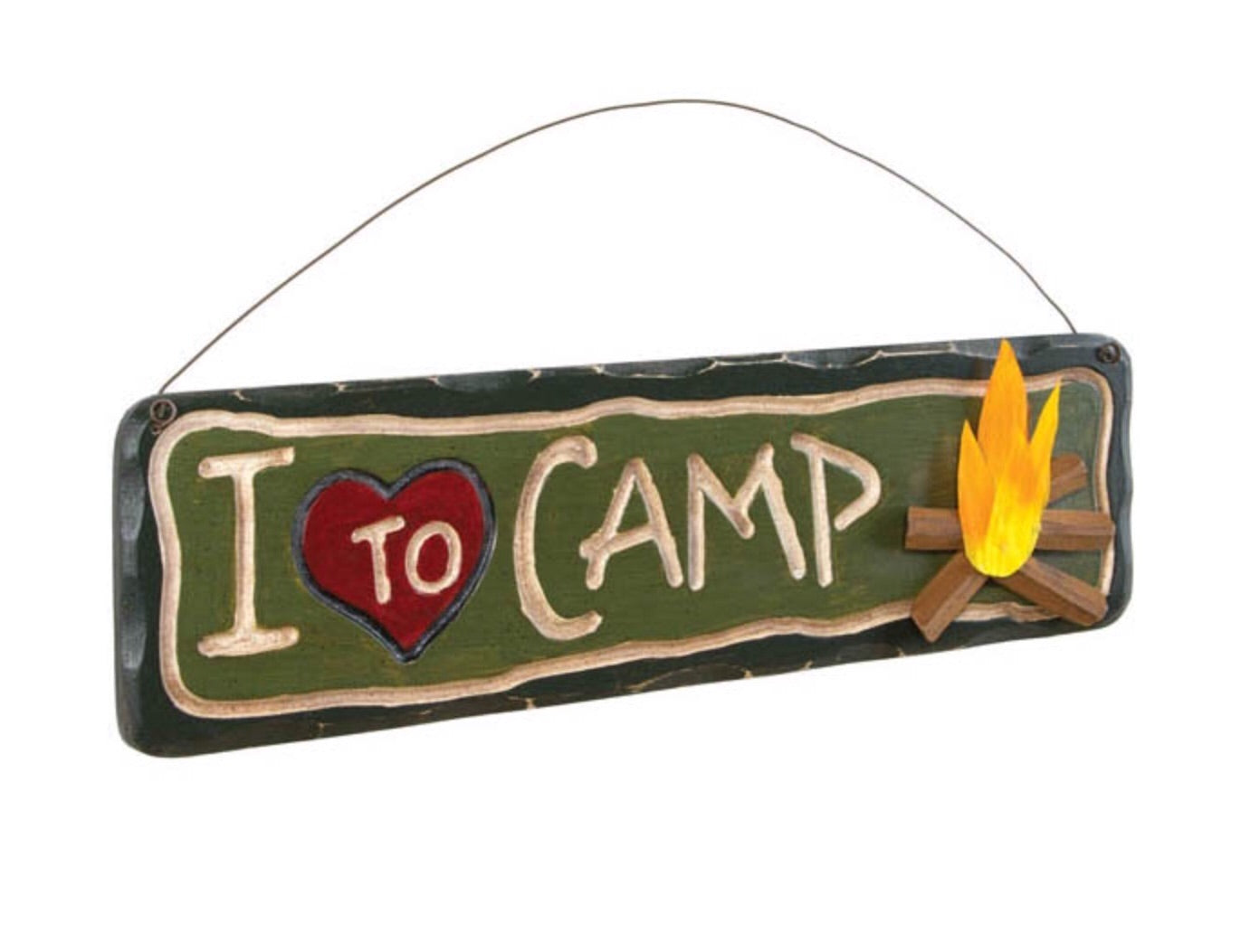 I love to camp sign