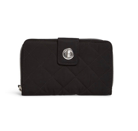 Iconic RFID Turnlock Wallet - Black