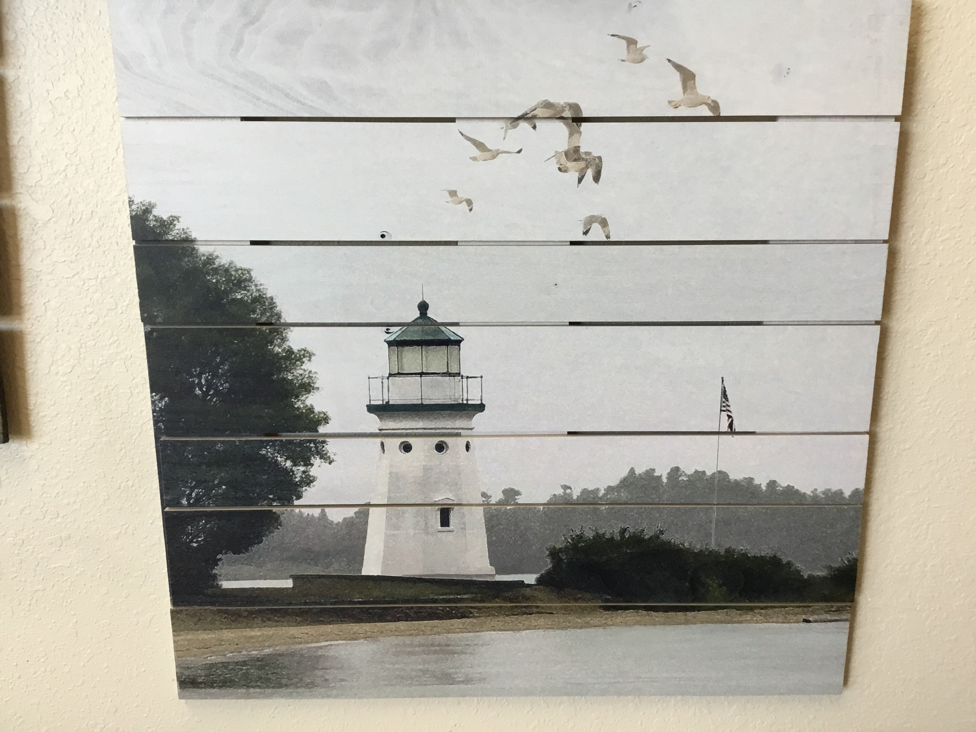 Timeless By Design Wooden Plank Lighthouse