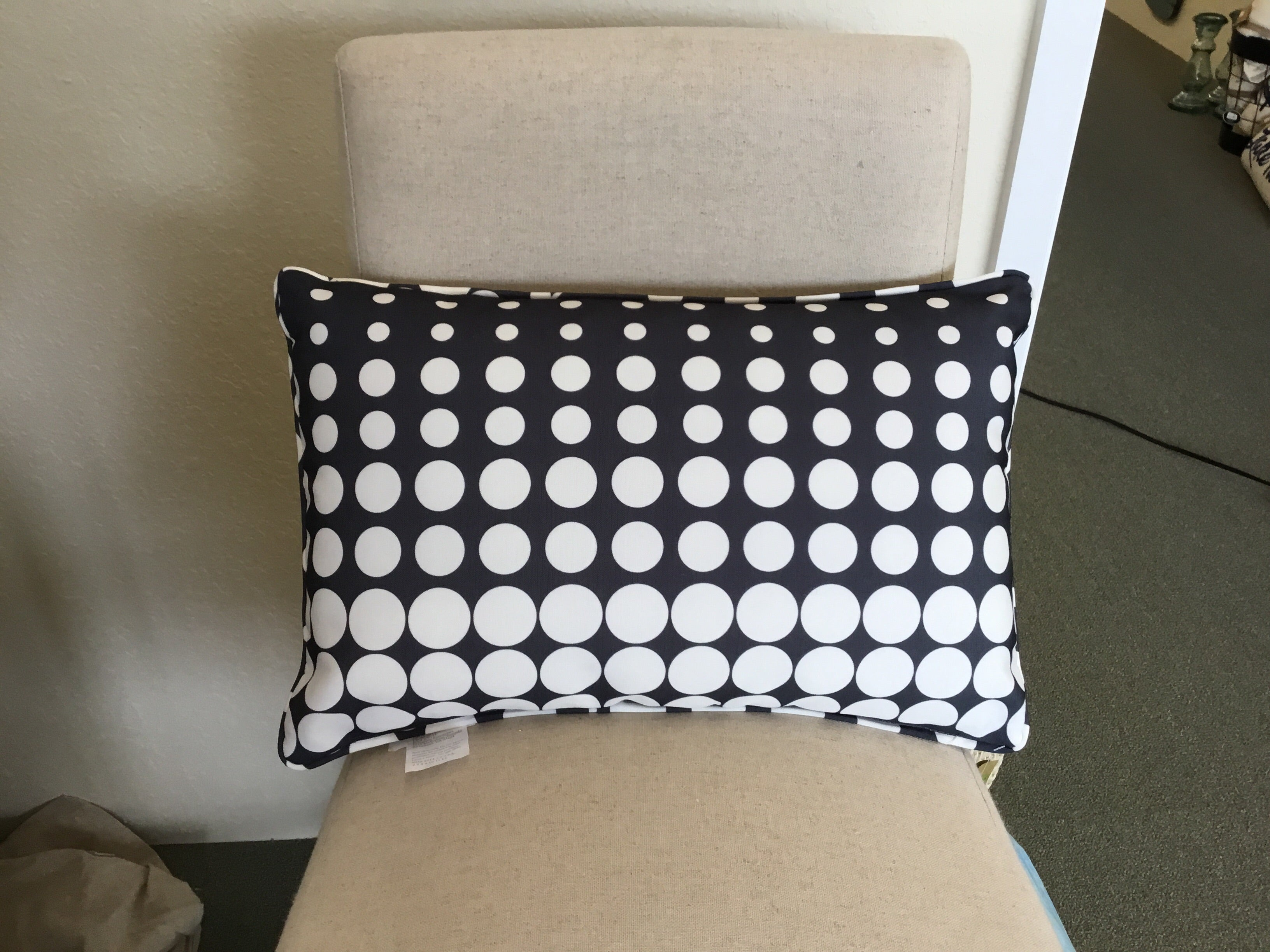 Evergreen Lumbar Pillow Cascading Dots