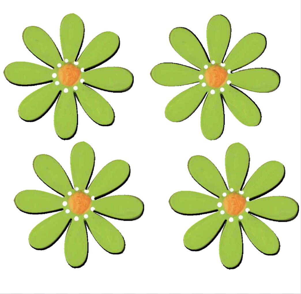 Flower magnets green