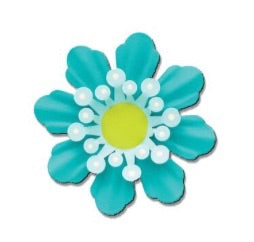 Flower dimensional magnet teal
