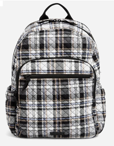 Vera Bradley Campus Backpack-Cozy Plaid Neutral