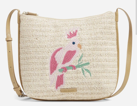 Vera Bradley Straw Crossbody Pattern: Light Natural Straw