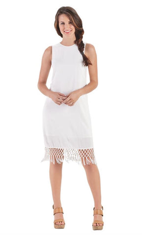 Vivi fringe dress White large