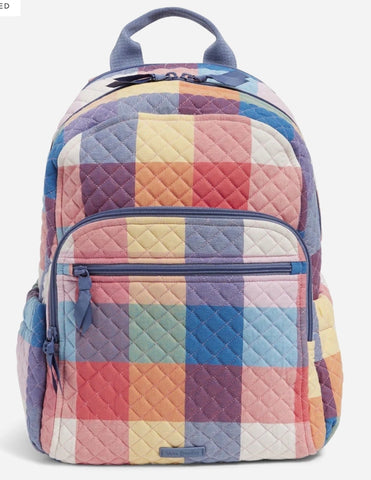 Vera Bradley Campus Backpack Pattern: Tropics Plaid