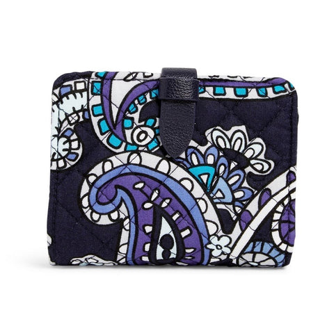 Iconic RFID Small Wallet - Deep Night Paisley