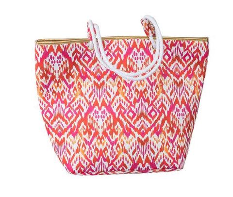 Hampton beach bag (hot pink triable)