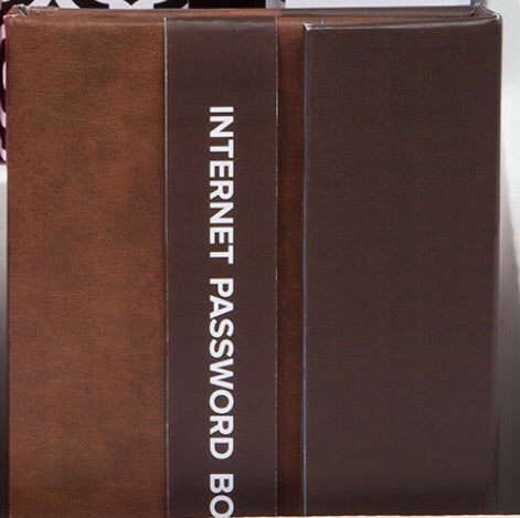 Brown Password Book