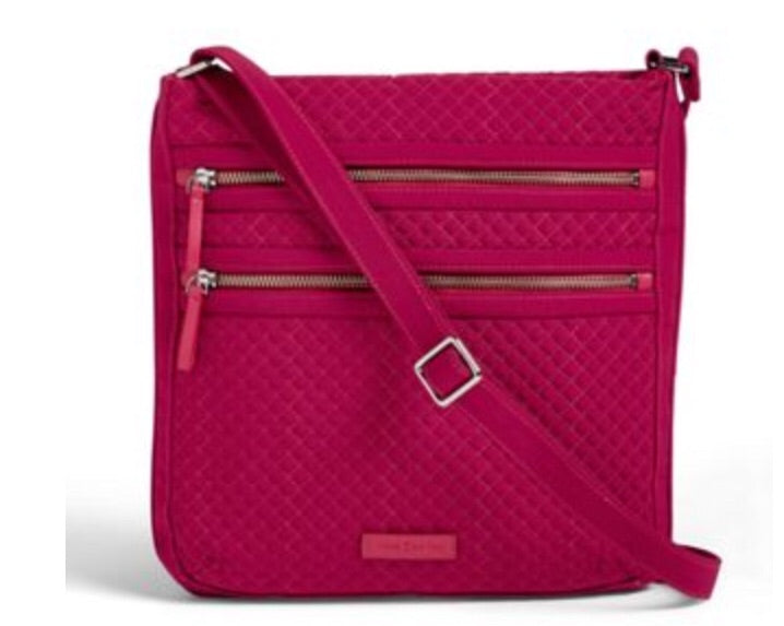 Iconic Triple Zip Passion Pink