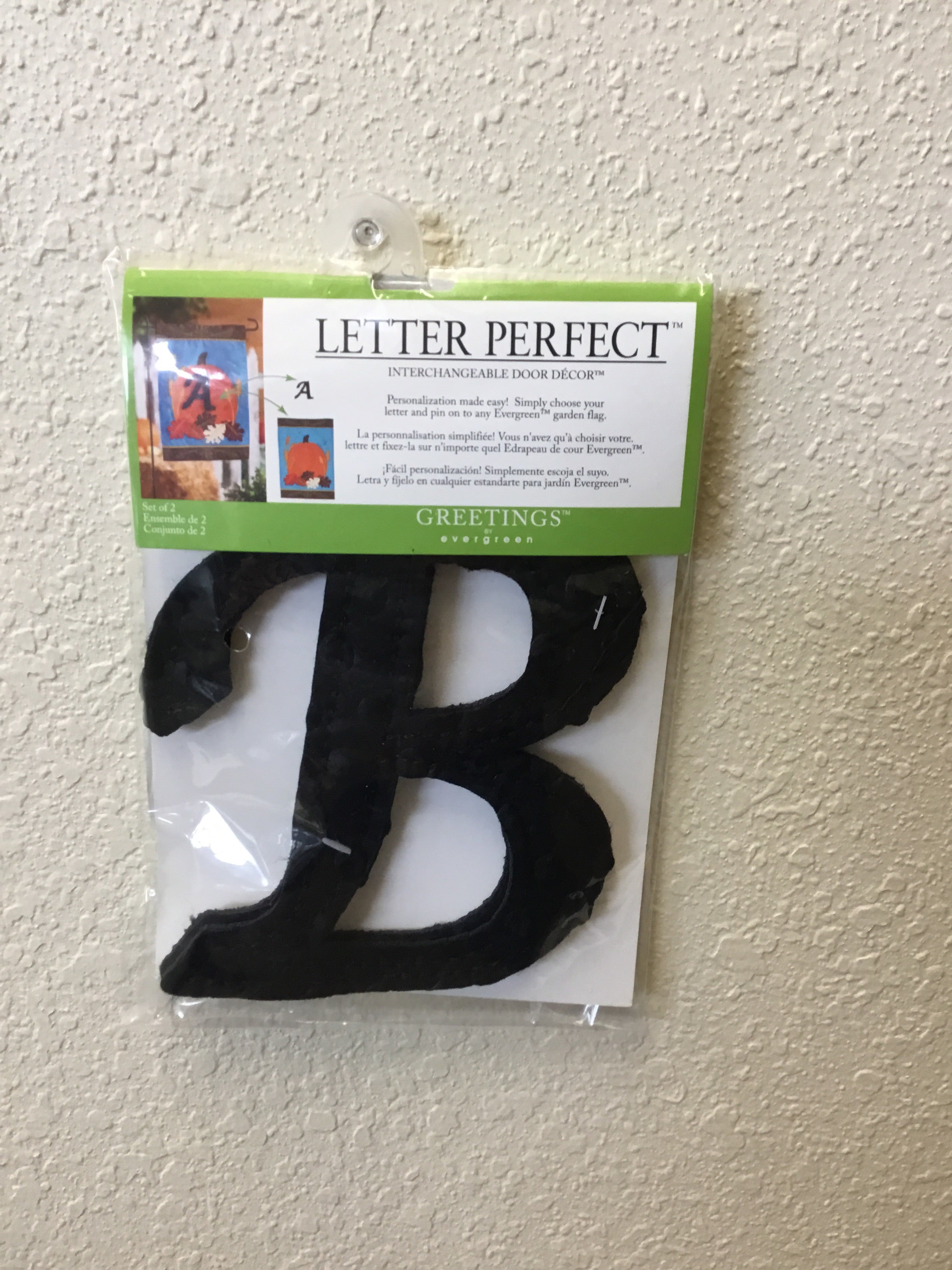 "Interchangeable ""B"" Flag Decor"