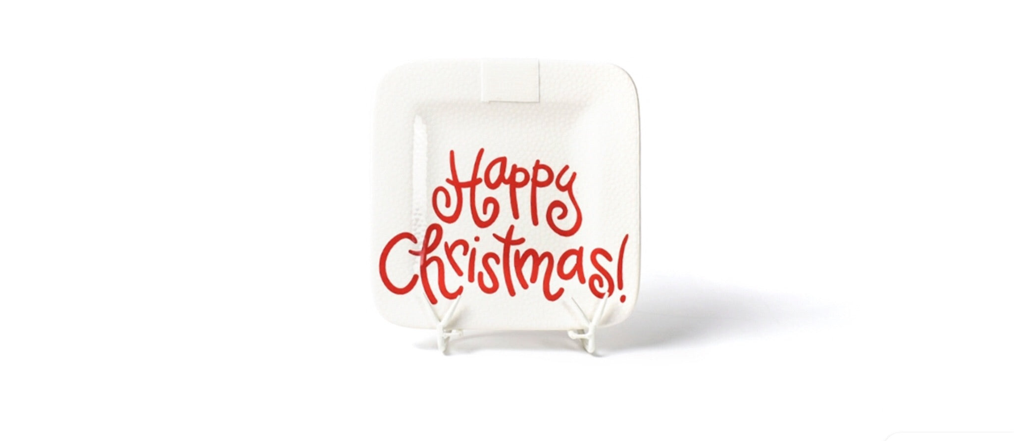 White Small Dot Happy Christmas Mini Platter