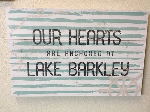 Our hearts are anchored at Lake Barkley