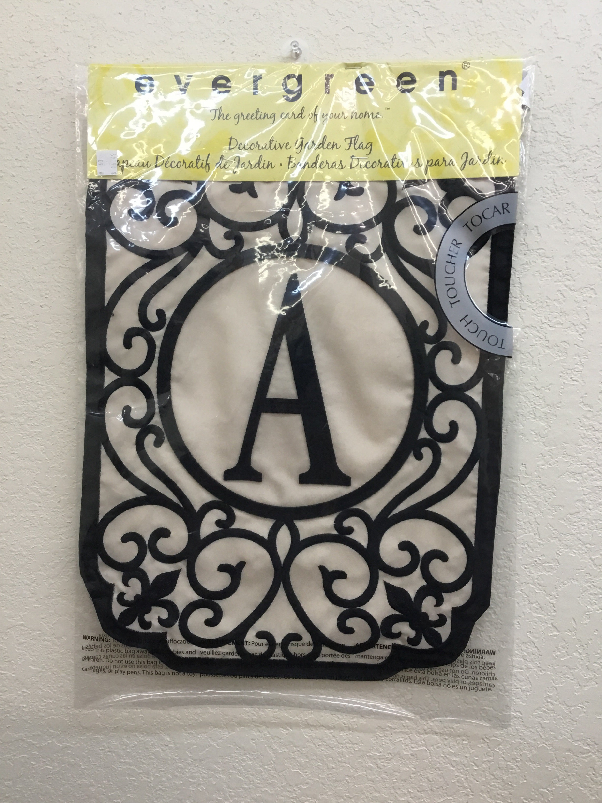 "Monogram ""A"" Garden Applique Flag"