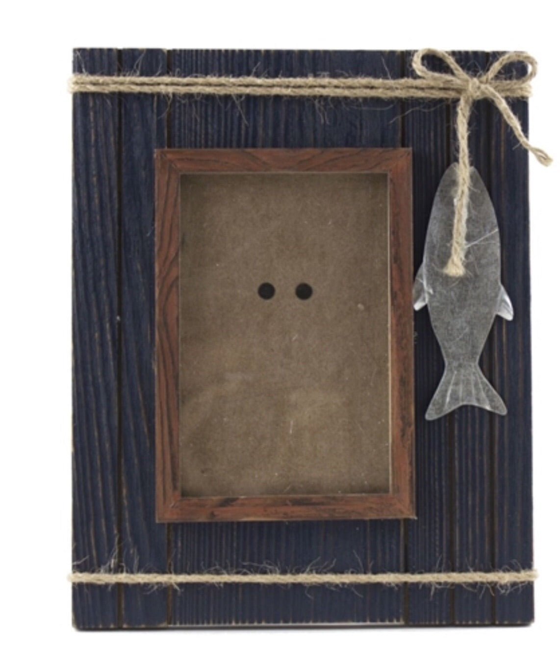 Wood Frame with Metal Fish