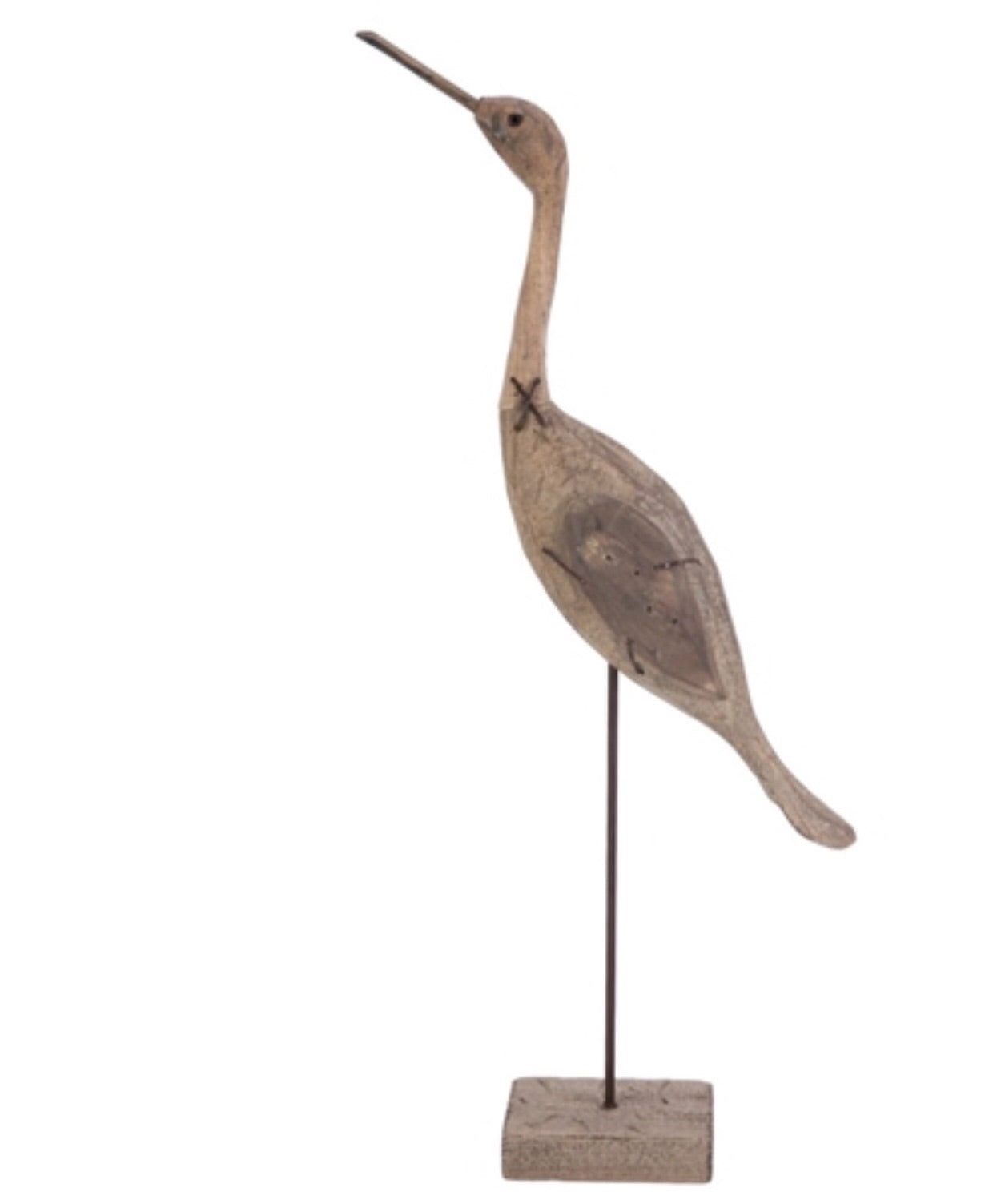 Large Wood Bird on Stand