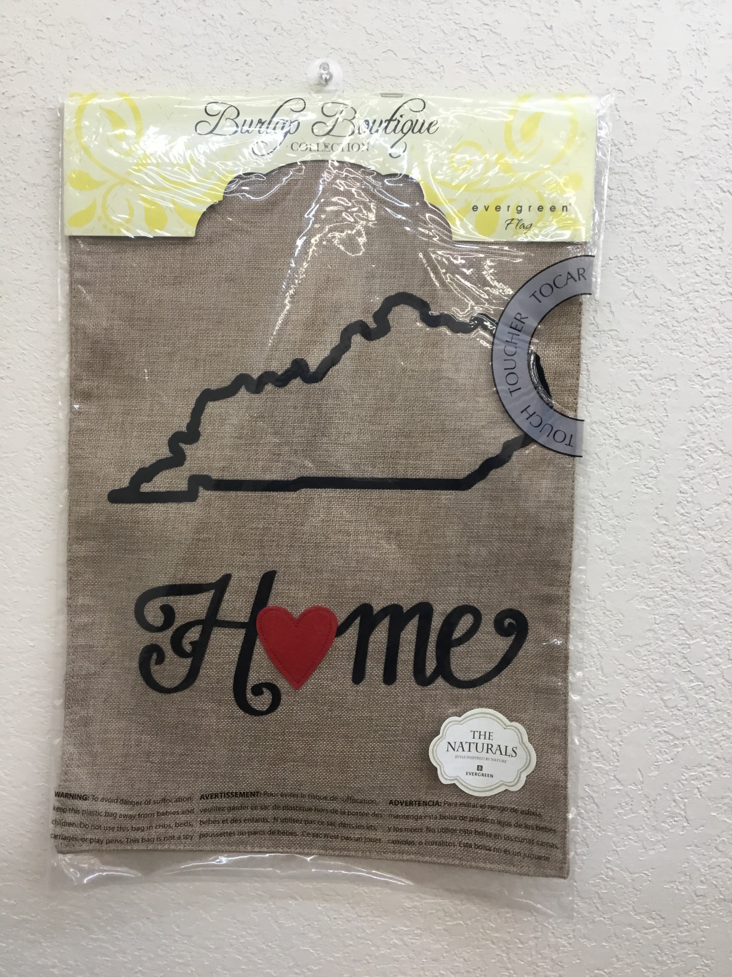 Kentucky State of my Heart Garden Burlap Flag