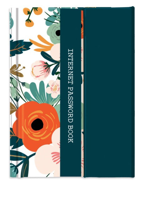 Floral Password Book