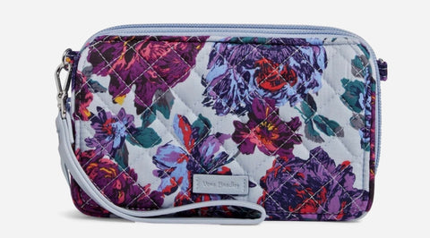 Vera Bradley RFID All in One Crossbody- Petite Neon Blooms