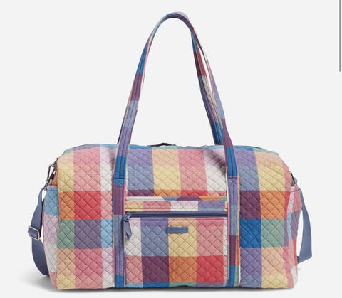 Vera Bradley Large Travel Duffel  Pattern: Tropics Plaid