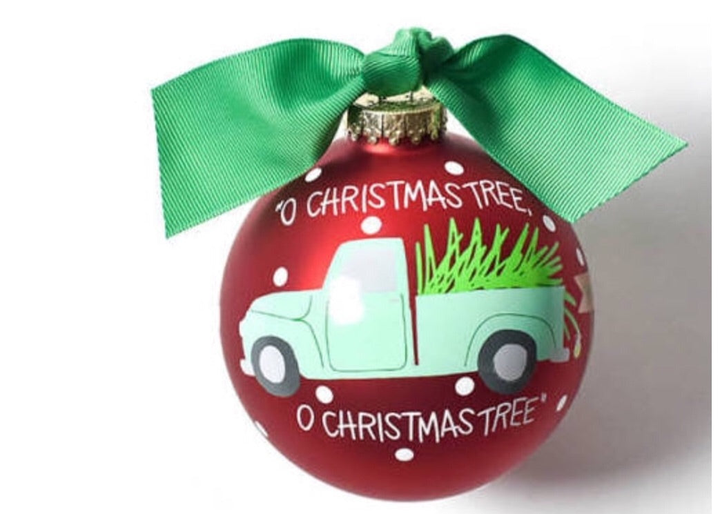 O Christmas Tree Glass Ornament