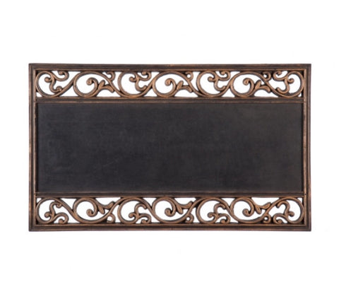 Metallic Scroll Coir Switchmat Tray