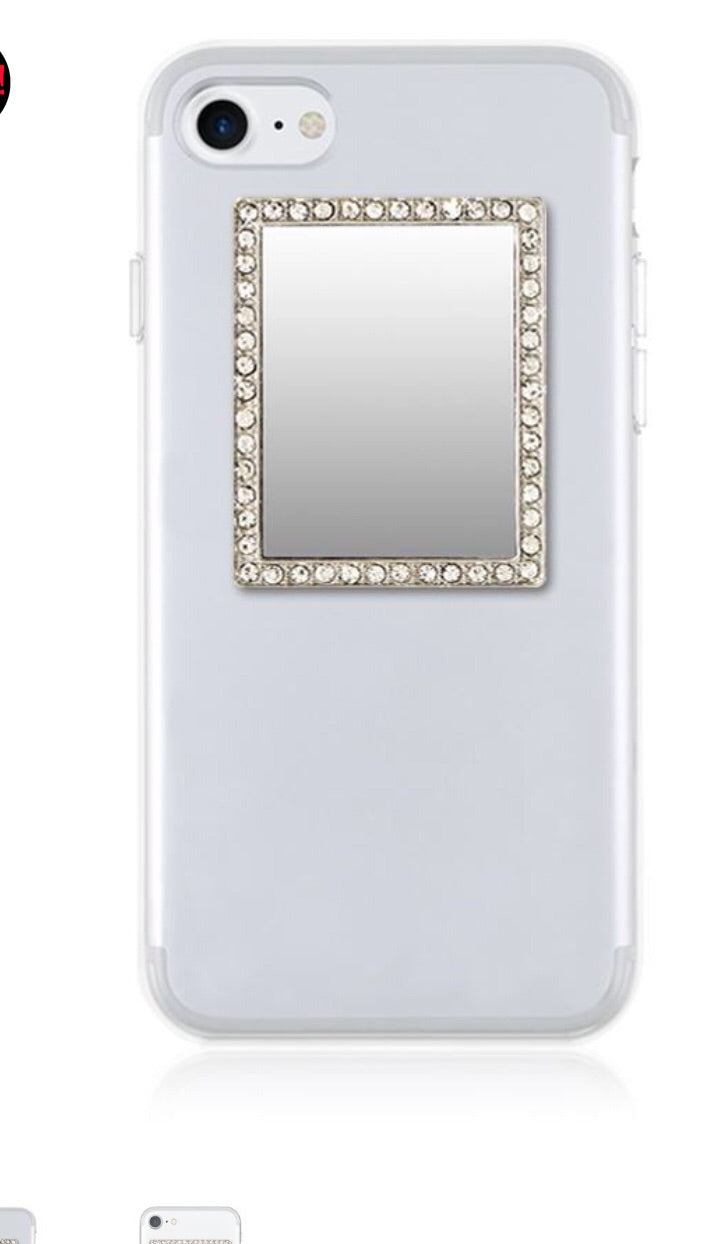 Silver Rectangle Phone Mirror