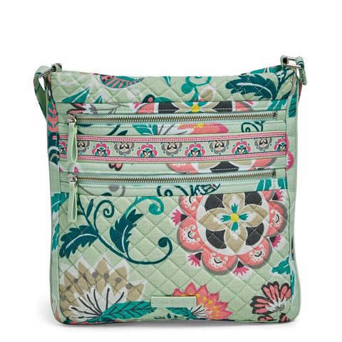 Iconic Triple Zip Hipster - Mint Flowers