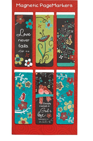 Love Never Fails Magnetic Bookmark Set