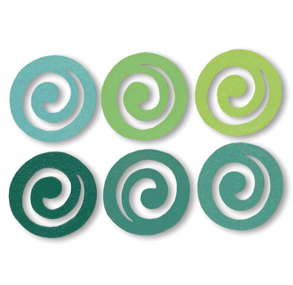 Swirl ombré magnets