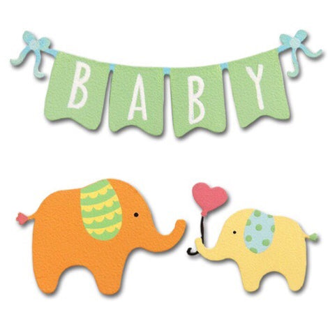 Baby banner w/ elephant magnets