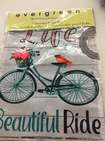 Life is a Beautiful Ride Garden Flag