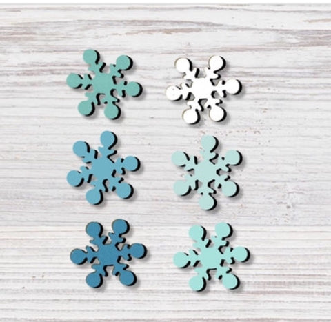Snowflake Ombré Magnets