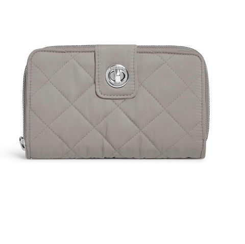 Iconic RFID Turnlock Wallet - Tranquil Gray