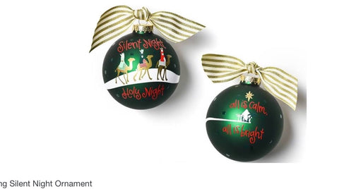 Silent Night Glass Ornament